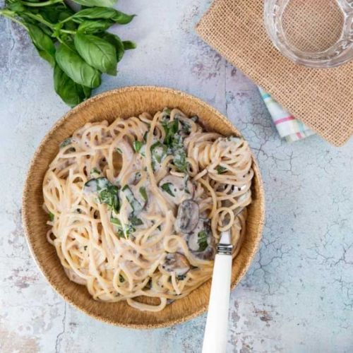 Creamy Lemon and Basil Pasta Sauce