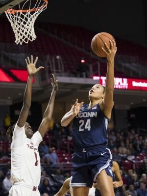 Collier scores 30, No. 2 UConn eases past Temple 88-67
