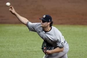 Cole strikes out 12 in eight innings, Yankees beat Rays 1-0