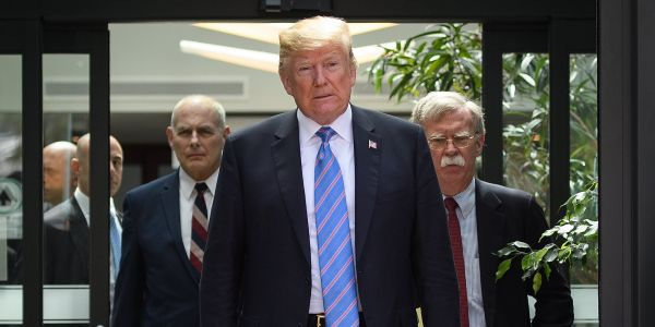 White House chief of staff John Kelly and National Security Adviser John Bolton reportedly got into a 'profanity-laced' screaming match outside the Oval Office