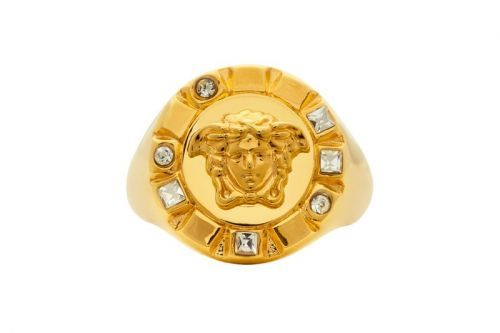 Versace Gold Palazzo Crystal Medusa Round Ring Release