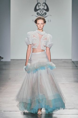 Littérateur Turned Haute-Couture Designer Dazzles Observers During New York Fashion Week