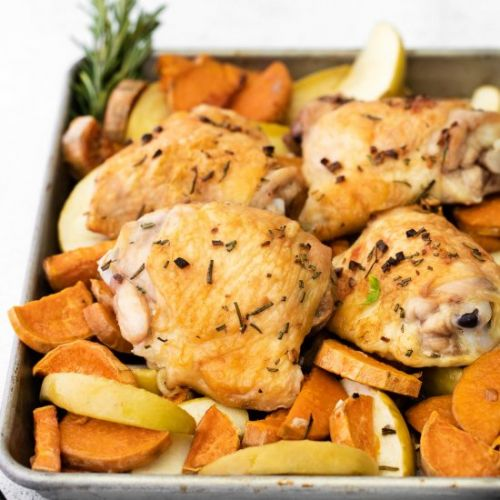 Chicken with Sweet Potatoes & Apple