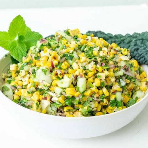 Grilled Corn Salad With Cucumber