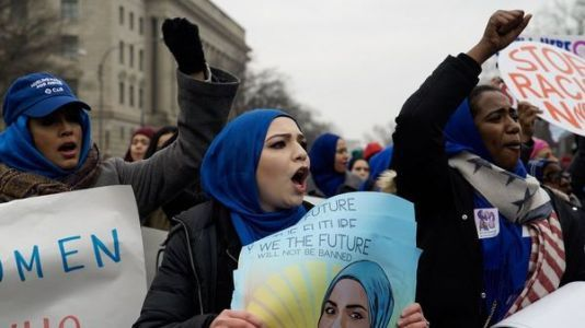 Amid Snow And Controversy, Demonstrators Take To The Streets For Third Women's March