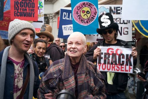 Vivienne Westwood will dance in protest of fracking today