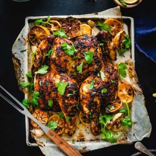 Butterflied Indian Spiced Chicken