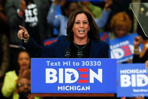 Biden says Harris is 'very much in contention' to be his running mate