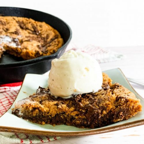 Chocolate Chunk Skillet Cookie