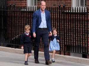 Prince George And Princess Charlotte Arrive To Meet Their Baby Brother