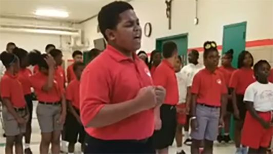 Cardinal Shehan School Choir goes viral with 'Rise Up'