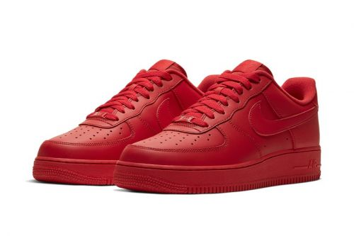 Nike's Classic Air Force 1 Low Gets Engulfed in All Red