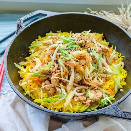 Chinese Chicken Egg Roll In a Bowl