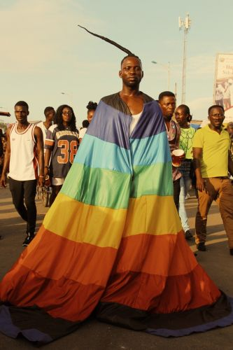 Photographing the beautiful boys at Ghana's Chale Wote Festival