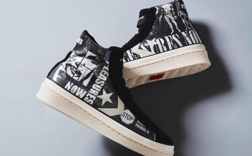 Converse links LA-based brand Pleasures for new Pro Leather footwear