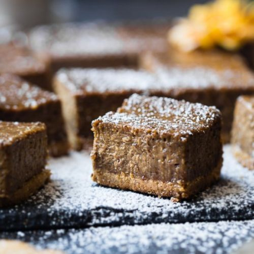Gingerbread Paleo Cheesecake Bars