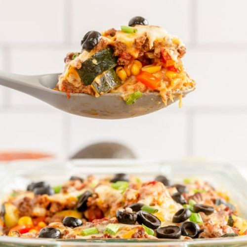 Beef and Vegetable Taco Bake