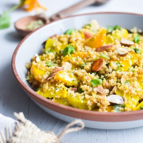Yellow Beet Bulgur Salad