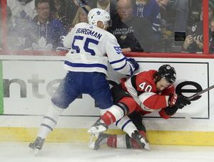 Carrick caps comeback in 3rd, Maple Leafs beat Senators 4-3