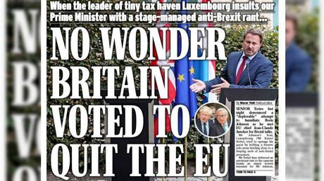 'Luxembourg laughs in Johnson's face': UK papers react to BoJo's 'gone missing' press conference