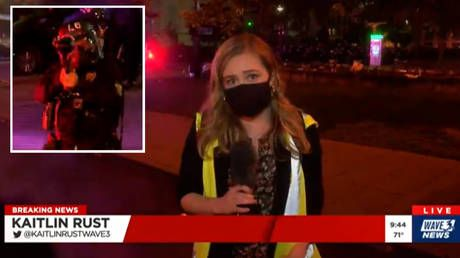 'I'm getting shot': Police fire pepper balls at TV REPORTER & crew during Louisville protests