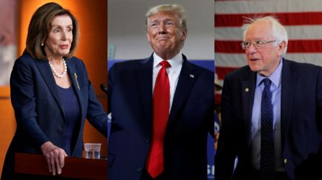 'Rigging election again': Trump says impeachment all a ploy to. shaft Bernie Sanders