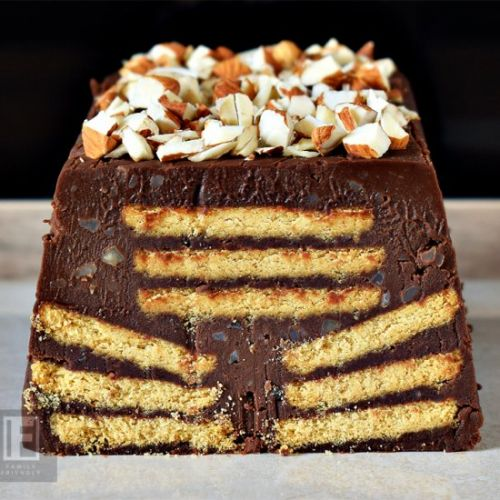 Almond Chocolate Biscuit Cake