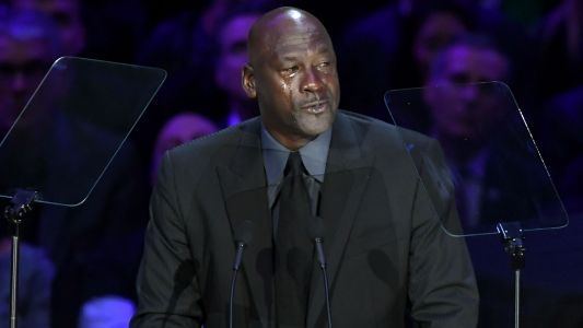 Michael Jordan acknowledges birth of new 'Crying Jordan' meme during Kobe Bryant's memorial service