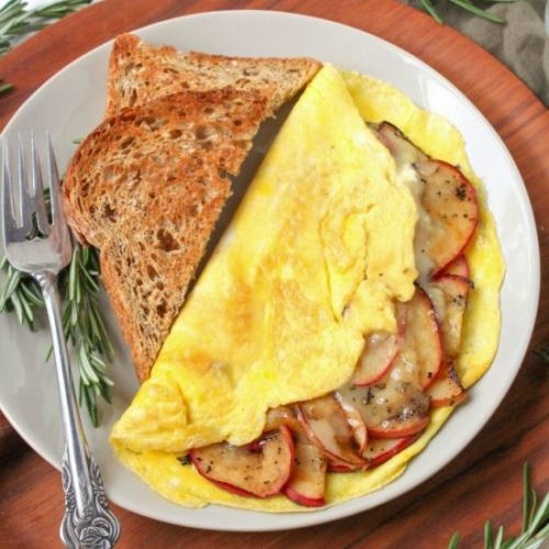 Apple & White Cheddar Omelet