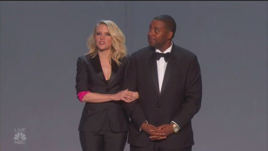 Kate McKinnon, Kenan Thompson, company claim to have 'solved it' in Emmys opening number