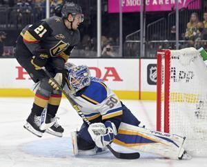 Blues beat Golden Knights 3-1 to complete 3-0 trip