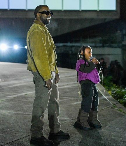 North West performs at Yeezy in her fashion week debut
