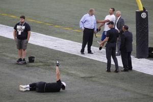 Packers-Raiders game being played on 80-yard field