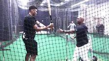 Watch NBA MVP Giannis Antetokounmpo Try To Hit A Baseball Off A Tee