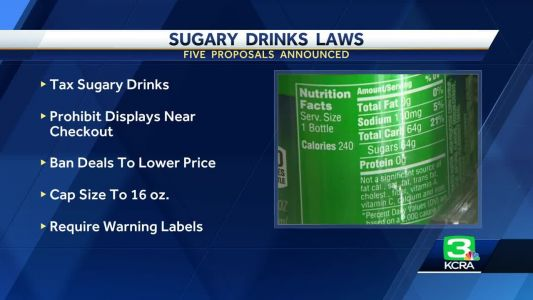 California legislation aims to reduce consumption of sugary drinks