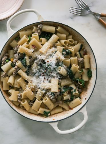 "A ""Feel Good"" Sausage Chard Pasta"