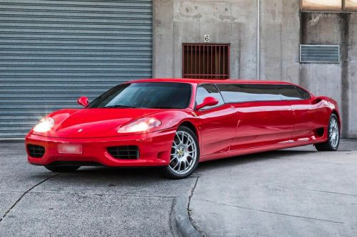 Another 2003 Ferrari 360 Modena Stretch Limo Is Now up for Sale