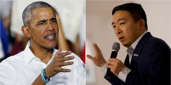 'A real missed opportunity': Andrew Yang swings at Obama's moves to bail out Wall Street over average Americans during the financial crash