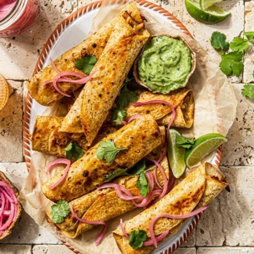 Baked Spicy Chicken Taquitos