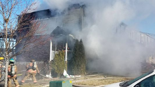 2 adults, teen jump to escape Winslow Twp. fire