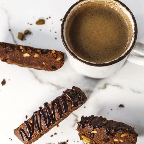 12 Days of Cookies: Chocolate for Basil's Chocolate Cherry & Pistachio Biscotti