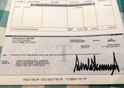 Gold Star family receives $25,000 personal check from Trump - signed on the same day as a Washington Post exposé