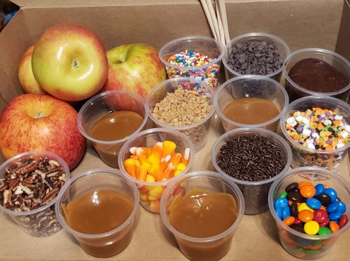 Customize your own caramel apple by purchasing these party boxes in Erlanger