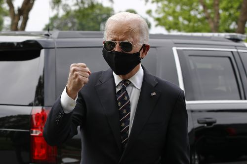 Biden visits protest site in Delaware