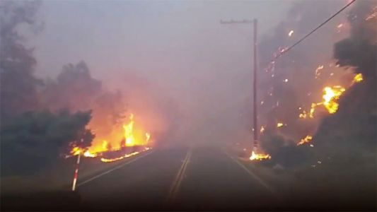 Here's The View From A Plow Truck Blazing Through California's Hell Fires