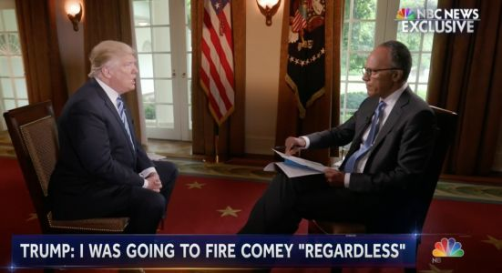Trump's lawyer pushes an insane lie about Trump's Lester Holt interview