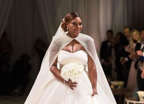 Serena Williams Got Married in Alexander McQueen by Sarah Burton