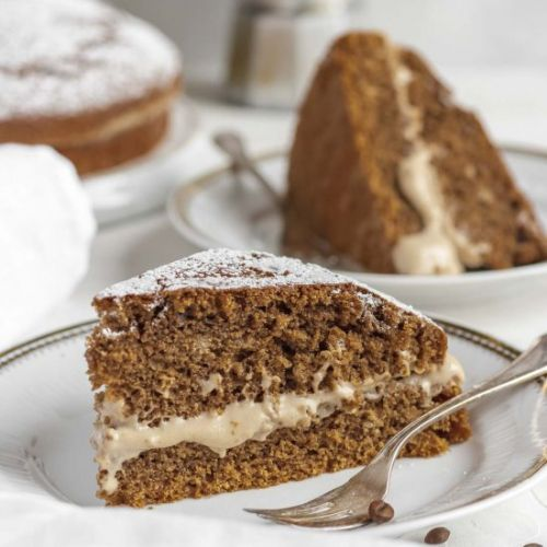 Vegan Coffee Cake w. Hazelnut Cream