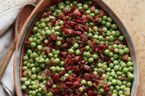 Peas and Pancetta with Lemon