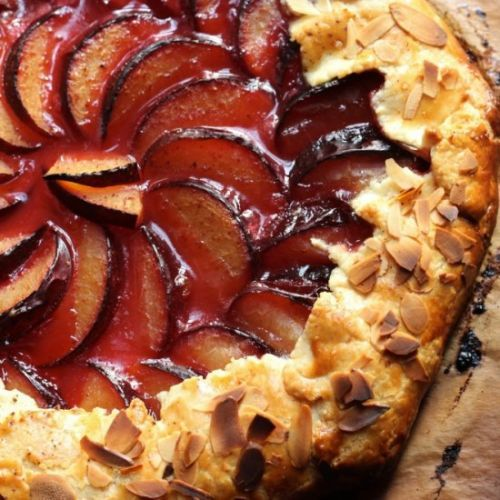 Rustic Plum Galette with Almonds